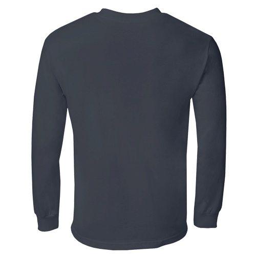 Custom Printed Alstyle 1304 Cotton Long Sleeve Tee - 8 - Back View | ThatShirt