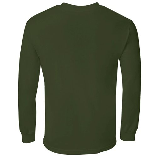 Custom Printed Alstyle 1304 Cotton Long Sleeve Tee - 15 - Back View | ThatShirt