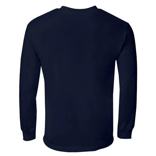Custom Printed Alstyle 1304 Cotton Long Sleeve Tee - 16 - Back View | ThatShirt