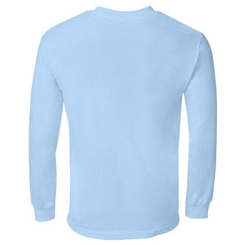 Custom Printed Alstyle 1304 Cotton Long Sleeve Tee - 19 - Back View | ThatShirt