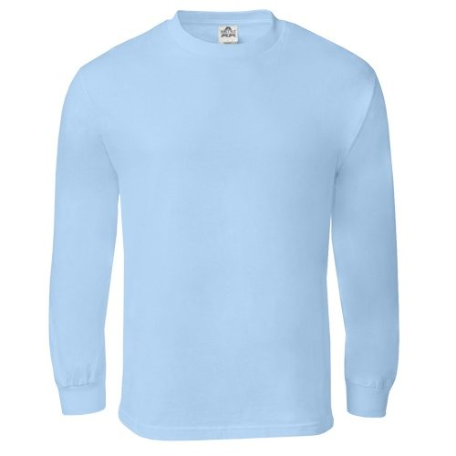 Custom Printed Alstyle 1304 Cotton Long Sleeve Tee - Front View | ThatShirt