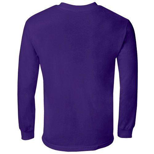 Custom Printed Alstyle 1304 Cotton Long Sleeve Tee - 20 - Back View | ThatShirt