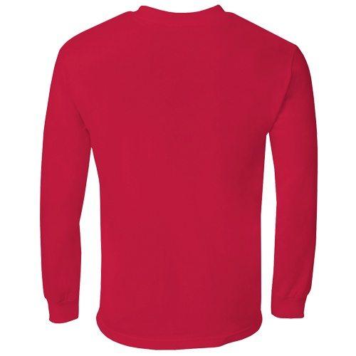 Custom Printed Alstyle 1304 Cotton Long Sleeve Tee - 21 - Back View | ThatShirt