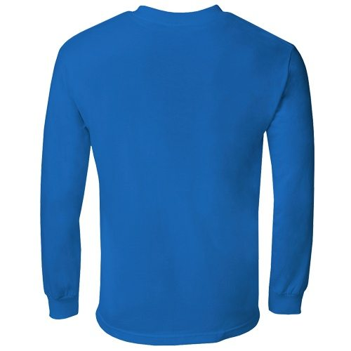 Custom Printed Alstyle 1304 Cotton Long Sleeve Tee - 22 - Back View | ThatShirt