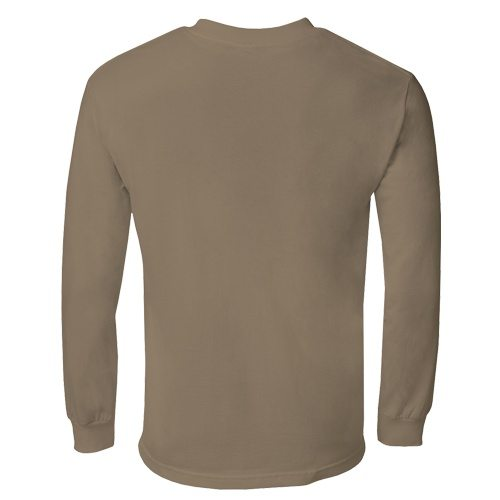 Custom Printed Alstyle 1304 Cotton Long Sleeve Tee - 23 - Back View   ThatShirt