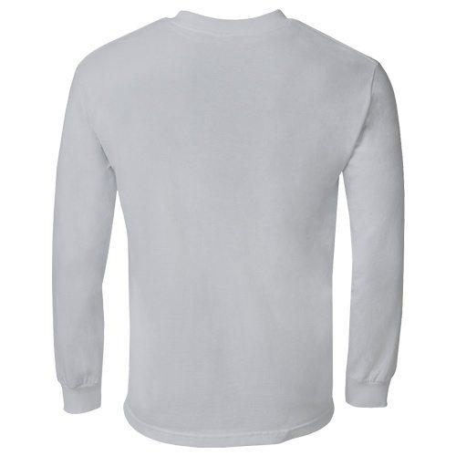 Custom Printed Alstyle 1304 Cotton Long Sleeve Tee - 26 - Back View   ThatShirt