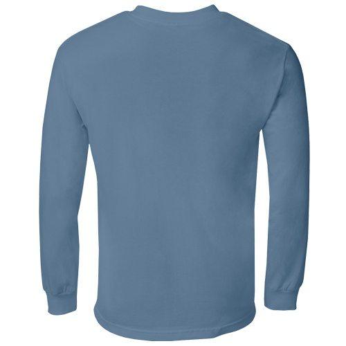 Custom Printed Alstyle 1304 Cotton Long Sleeve Tee - 27 - Back View | ThatShirt