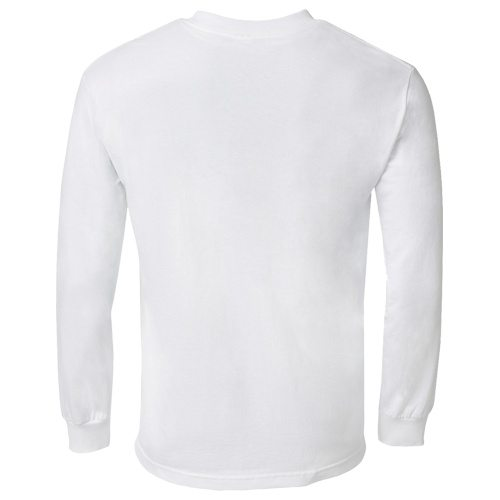 Custom Printed Alstyle 1304 Cotton Long Sleeve Tee - 28 - Back View | ThatShirt
