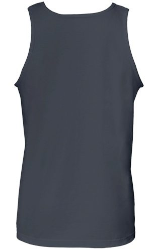 Custom Printed Alstyle 1307 Adult Tank Top - Charcoal - Back View   ThatShirt