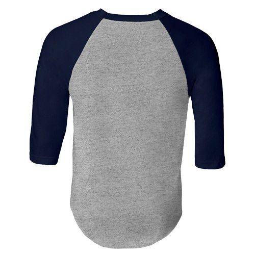 Custom Printed Alstyle 1334 Adult Raglan Baseball Tee - 1 - Back View | ThatShirt