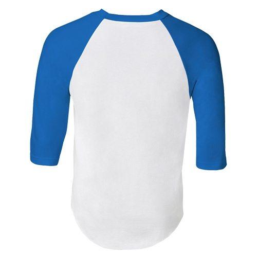 Custom Printed Alstyle 1334 Adult Raglan Baseball Tee - 8 - Back View | ThatShirt