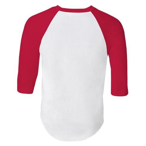 Custom Printed Alstyle 1334 Adult Raglan Baseball Tee - 10 - Back View | ThatShirt