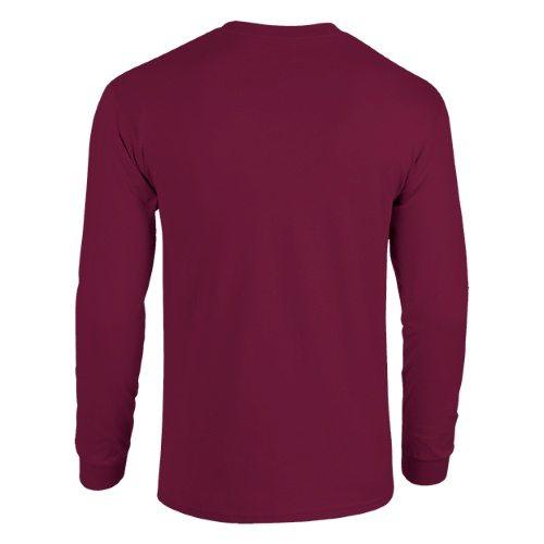Custom Printed Alstyle 1572 Adult Sweatshirt - Burgundy - Back View | ThatShirt
