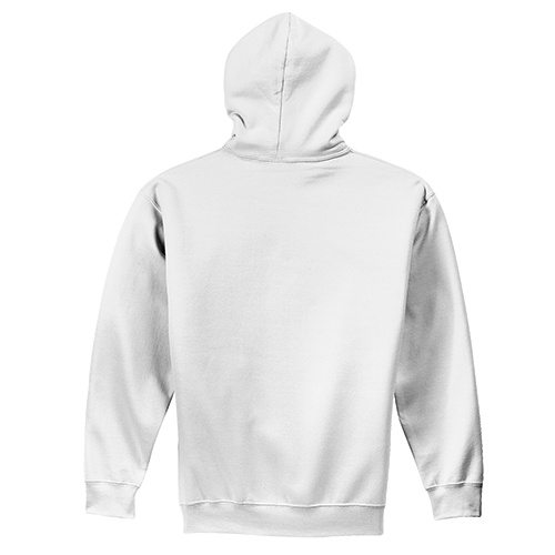 Custom Printed Alstyle 1574 Full-Zip Hooded Fleece - White - Back View | ThatShirt