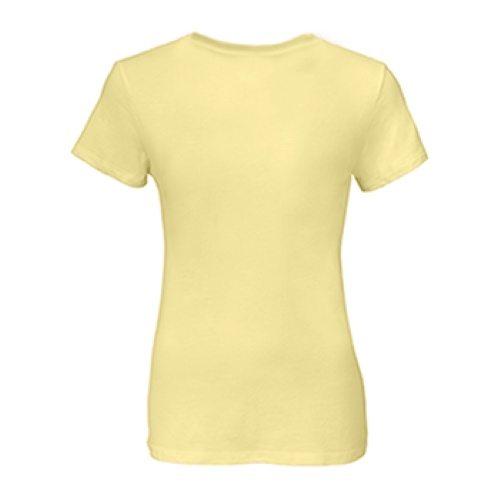 Custom Printed Alstyle 2562 Missy Jersey Crew Neck Tee - Banana - Back View   ThatShirt