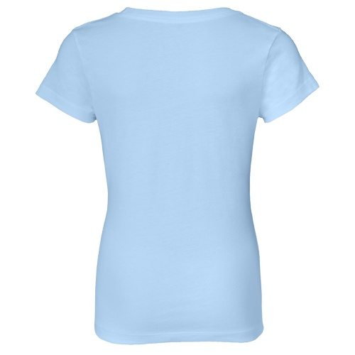 Custom Printed Alstyle 3362 Girls Jersey Short Sleeve Tee - Powder Blue - Back View | ThatShirt