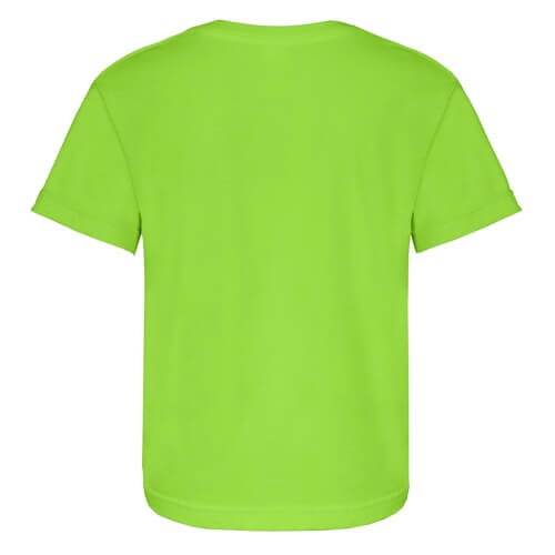 Custom Printed Alstyle 3381 Youth Full Fit Short Sleeve Tee - Lime - Back View | ThatShirt