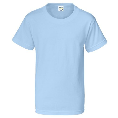 Custom Printed Alstyle 3382 Youth Regular Fit Short Sleeve Tee - Front View | ThatShirt