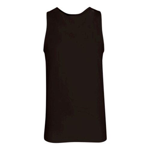Custom Printed Alstyle 5307 Adult Tank Top - Black - Back View | ThatShirt