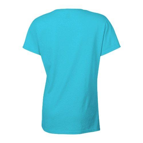 Custom Printed Alstyle 5501 Junior Boyfriend Tee - Pacific Blue - Back View | ThatShirt