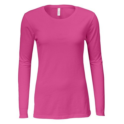 Custom Printed Alstyle 5564 Junior Jersey Ladies' Long Sleeve T-Shirt - Front View | ThatShirt
