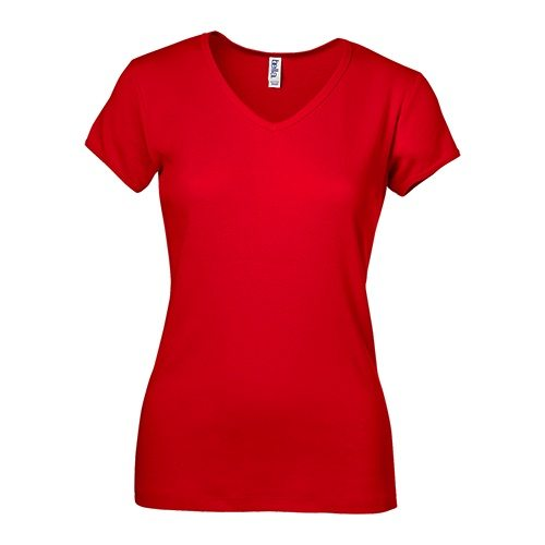 Custom Printed Bella 1005 Ladies V-Neck T-shirt - Front View | ThatShirt