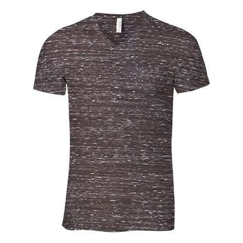 Custom Printed Bella + Canvas 3005 V-Neck Jersey Tee - Front View   ThatShirt