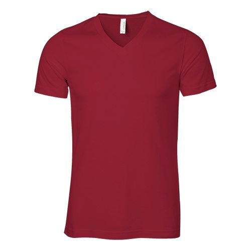 Custom Printed Bella + Canvas 3005 V-Neck Jersey Tee - Front View | ThatShirt