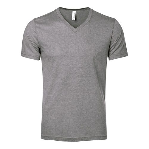 Custom Printed Bella + Canvas 3415 Triblend V-Neck Tee - Front View | ThatShirt