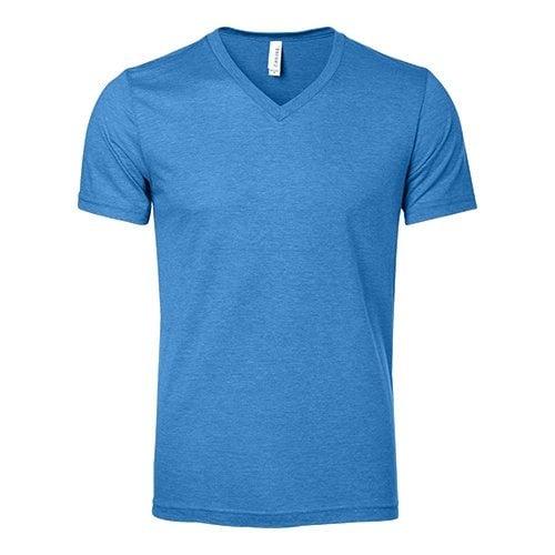 Custom Printed Bella + Canvas 3415 Triblend V-Neck Tee - Front View | ThatShirt