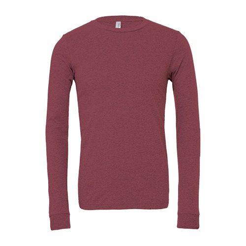 Custom Printed Bella + Canvas 3501 Jersey Long Sleeve Tee - Front View | ThatShirt