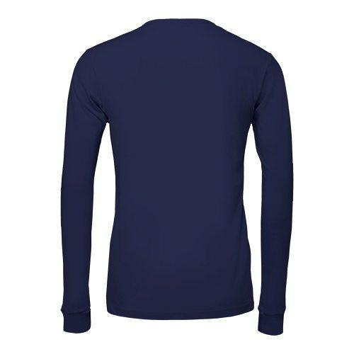 Custom Printed Bella + Canvas 3501 Jersey Long Sleeve Tee - 9 - Back View   ThatShirt