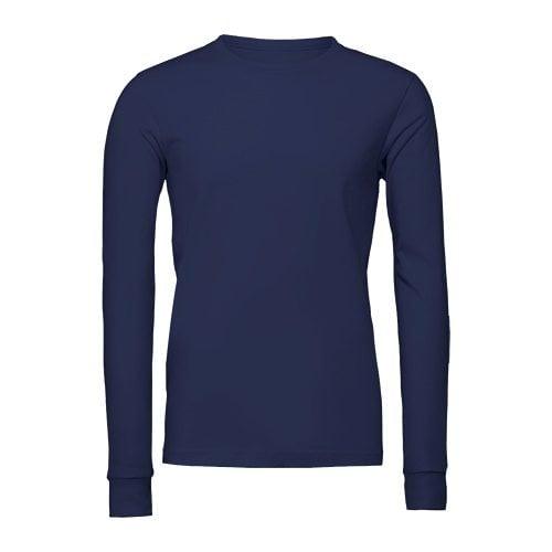 Custom Printed Bella + Canvas 3501 Jersey Long Sleeve Tee - Front View   ThatShirt