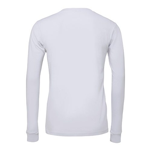 Custom Printed Bella + Canvas 3501 Jersey Long Sleeve Tee - 13 - Back View   ThatShirt