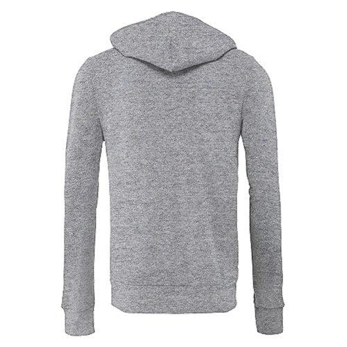 Custom Printed Bella + Canvas 3739 Poly-Cotton Fleece Full Zip - 4 - Back View   ThatShirt
