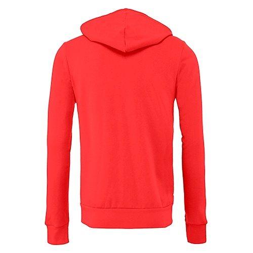 Custom Printed Bella + Canvas 3739 Poly-Cotton Fleece Full Zip - Red - Back View | ThatShirt