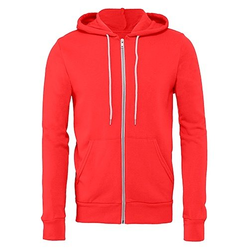 Bella + Canvas 3739 Poly-Cotton Fleece Full Zip