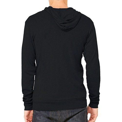 Custom Printed Bella + Canvas 3939 TriBlend Full Zip Lightweight Hoodie - 0 - Back View | ThatShirt