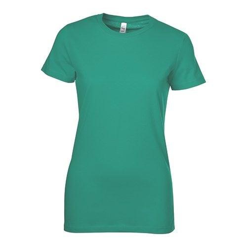 Custom Printed Bella + Canvas 6004 The Favorite Ladies' T-shirt - Front View   ThatShirt