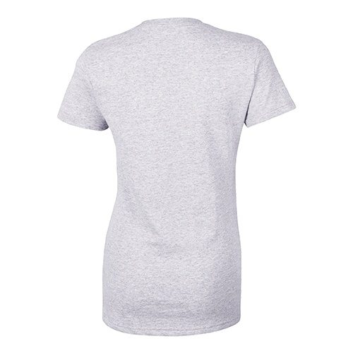 Custom Printed Bella + Canvas 6005 Ladies' Short Sleeve V-Neck Jersey T-shirt - Athletic Heather - Back View | ThatShirt