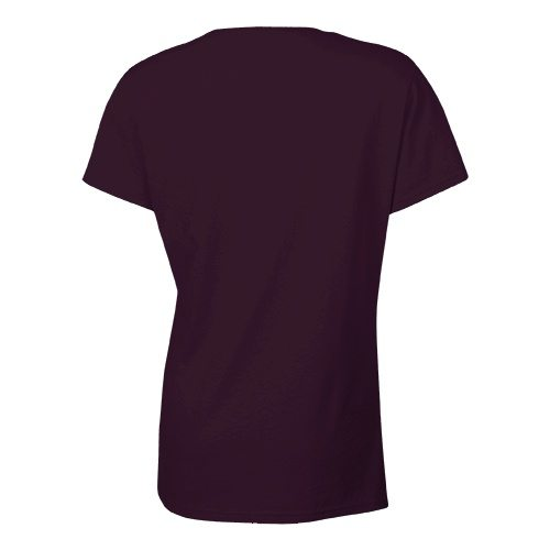 Custom Printed Bella + Canvas 6005 Ladies' Short Sleeve V-Neck Jersey T-shirt - 3 - Back View | ThatShirt