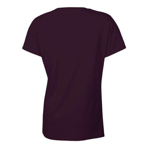 Custom Printed Bella + Canvas 6005 Ladies' Short Sleeve V-Neck Jersey T-shirt - 3 - Back View | ThatShirt