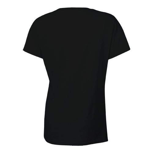 Custom Printed Bella + Canvas 6035 Ladies' Short Sleeve Deep V-Neck Jersey Tee - 3 - Back View | ThatShirt