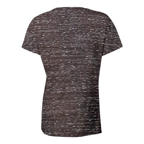 Custom Printed Bella + Canvas 6035 Ladies' Short Sleeve Deep V-Neck Jersey Tee - 6 - Back View | ThatShirt