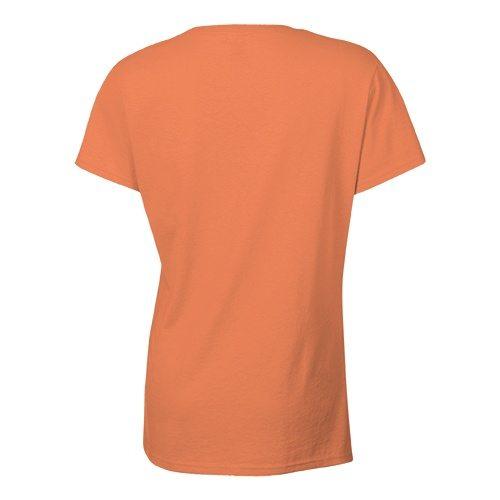 Custom Printed Bella + Canvas 6035 Ladies' Short Sleeve Deep V-Neck Jersey Tee - 7 - Back View | ThatShirt