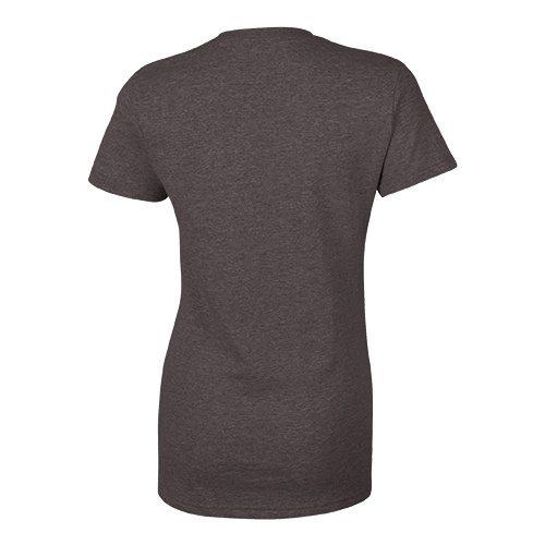 Custom Printed Bella + Canvas 6035 Ladies' Short Sleeve Deep V-Neck Jersey Tee - 8 - Back View | ThatShirt