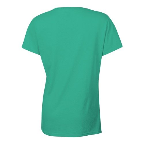 Custom Printed Bella + Canvas 6035 Ladies' Short Sleeve Deep V-Neck Jersey Tee - 10 - Back View | ThatShirt