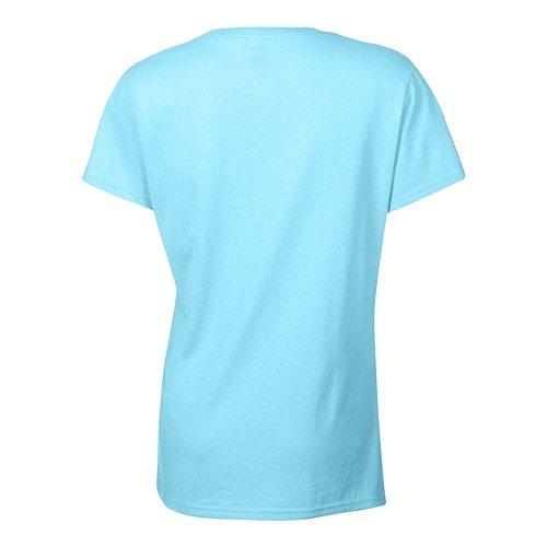 Custom Printed Bella + Canvas 6035 Ladies' Short Sleeve Deep V-Neck Jersey Tee - 14 - Back View   ThatShirt