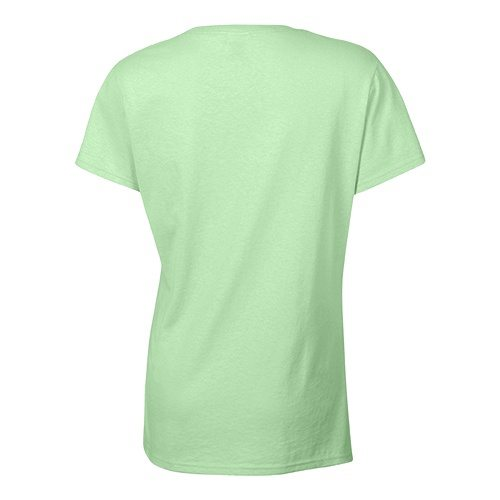 Custom Printed Bella + Canvas 6035 Ladies' Short Sleeve Deep V-Neck Jersey Tee - 15 - Back View | ThatShirt