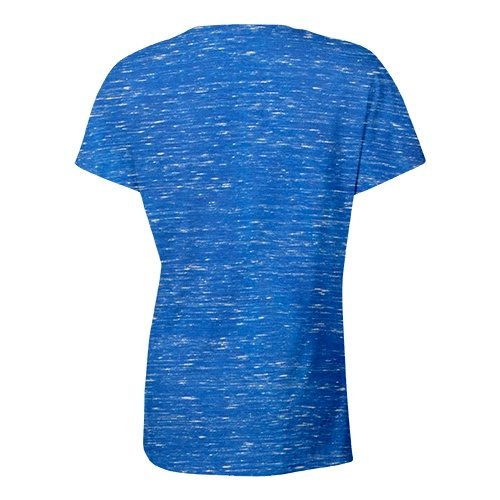 Custom Printed Bella + Canvas 6035 Ladies' Short Sleeve Deep V-Neck Jersey Tee - 22 - Back View | ThatShirt